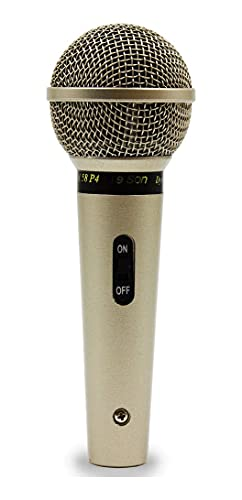 Microfone Profissional Com Fio Cardióide Champanhe, Leson, Sm58 P4, Natural