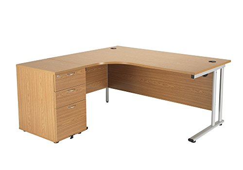 Office Hippo Professional Left Corner Office Desk With 3 Drawer...