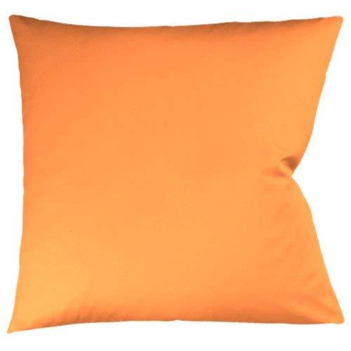 Fleuresse 9100-2044 Colours - Funda de cojín de satén (35 x 40 cm, 100% algodón), Color Naranja