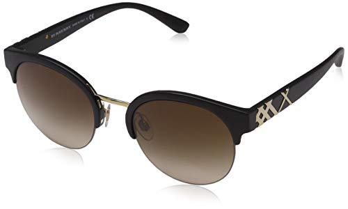 Burberry 0Be4241 346413 52 Gafas de sol, Negro (Black/Brown), Mujer
