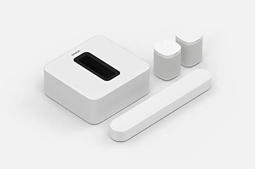 Sonos Beam WLAN Soundbar Speaker | Heimkinoset (5.1 | Beam + Sub + 2X One SL, weiß)