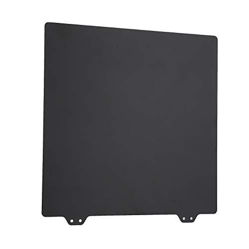 3d 3D Printer PEI, 220 x 220mm Temperature Resistance Fiberglass Panels Gizmo Dorks Metal(Black)