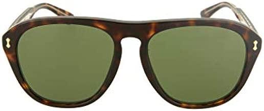 Gucci GG0128S Dark Havana/Green One Size