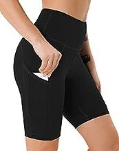 JOYSPELS Biker Shorts for Women High Waist Workout Running Athletic Bike Spandex Gym Yoga Shorts with Side Pockets, Black XL