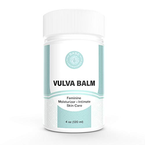 Base Laboratories Organic Vulva Balm  Soothing Moisturizer for Women  Topical Labia Cream for Daily Vulva Care and Relief of Feminine Dryness amp Vaginal Itch with Olive Oil Avocado amp Beeswax