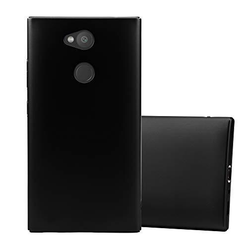 Cadorabo Hülle für Sony Xperia L2 in Metall SCHWARZ - Hardcase Handyhülle aus Plastik gegen Kratzer & Stöße - Schutzhülle Bumper Ultra Slim Back Hülle Hard Cover