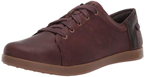 Chaco Women's Ionia Leather Lace Up Shoe, Mahogany, 10.5 M US