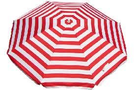Banz Outdoor's Noosa UV-strand paraplu, rood/witte streep, 180 cm