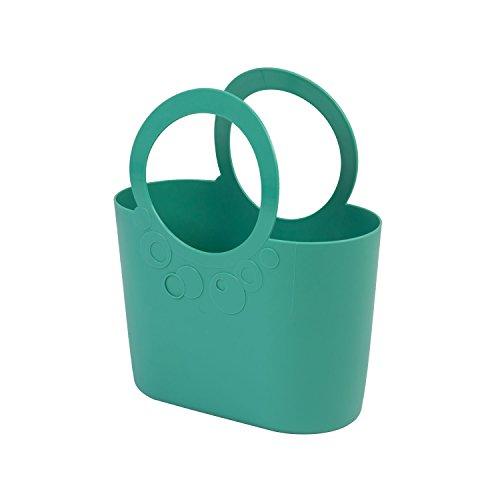 moderne Handtasche 6,4 L Picknickkorb türkis Size L Griffe Lily Strandtasche Tasche Basket