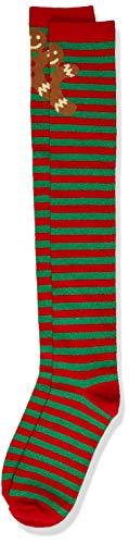 Urban Classics Damen Christmas Overknees Socken, red/Green, 35-38