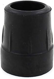 Antal: 4 x 25 mm 1 tum Z-typ slitstarka gummihylsor för Zimmer-ramar, promenadramar – svart – av Lifeswonderful®