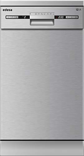 Edesa - EDW-4692 X, Lavavajillas Independiente 9 cubiertos A++, Estrecho (45 cm), Acero inoxidable, Negro