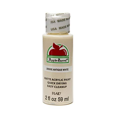 Apple Barrel Acrylic Paint in Assorted Colors (2 oz), 20505, Antique White