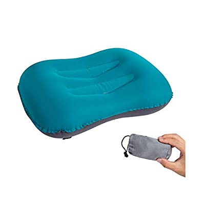 Lvgowyd Camping Pillow - Ultralight Inflatable Travel Pillows - Compressible, Lightweight, Ergonomic Neck & Lumbar Support - Perfect for Backpacking or Airplane Travel