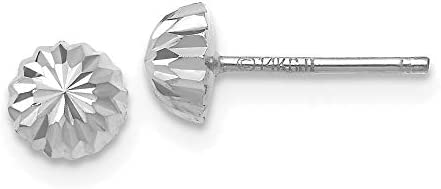 14k White Gold Half Ball Post Stud Earrings Button Fine Jewelry For Women Gifts For Her product image