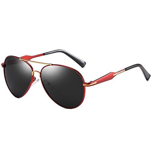 Gafas de visión nocturna retro de montura grande para hombre, polarizadas, clásicas, con protección UV, gafas de sol de conducción (C2)