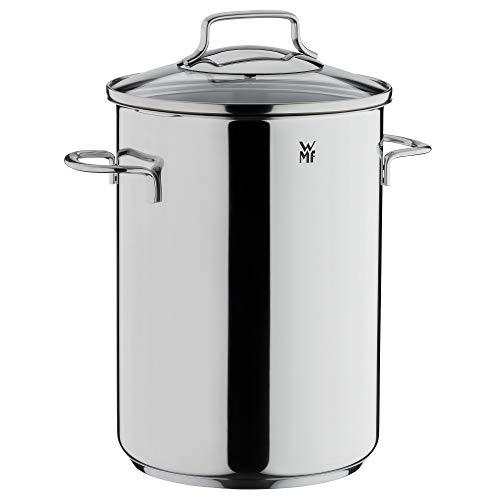 WMF Spargeltopf hoch mit Glasdeckel 16cm, Dampfgarer 5,0l, Cromargan Edelstahl poliert, Topf Induktion mit Siebeinsatz, geeignet für Pasta, Spaghetti, Gemüse