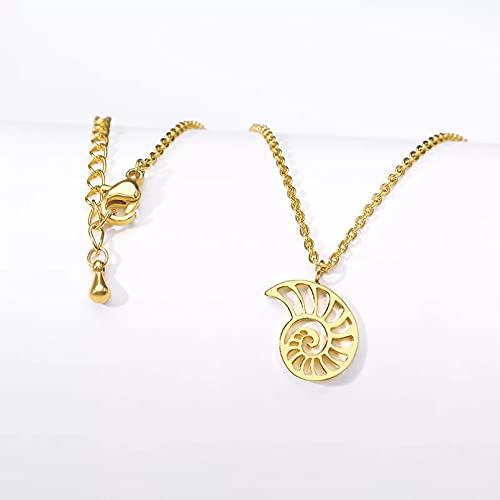 Sieraden ketting voor dames Rose gouden schelp hanger vrouwen roestvrij stalen sieraden origami schelp kettingen zuster geschenken ketting vrouwen Cadeaus voor vrouw moeder vriendin verjaardagscadeau