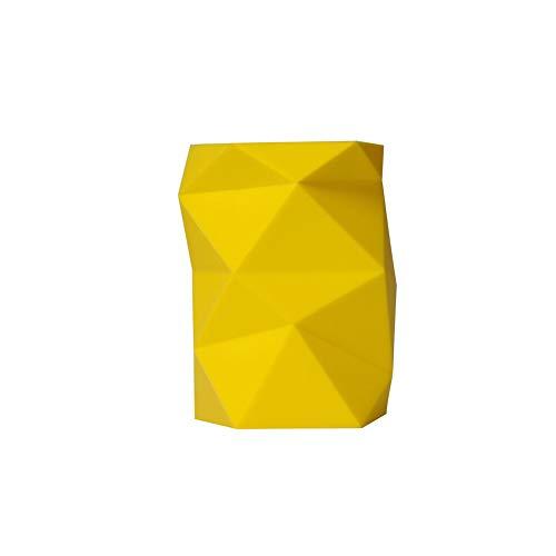 JUNGEN Portalápices de creativa con Forma de geometria especial Titular de pluma Portalápices de escritorio de silicona Organizador de brochas de maquillaje (Amarillo)