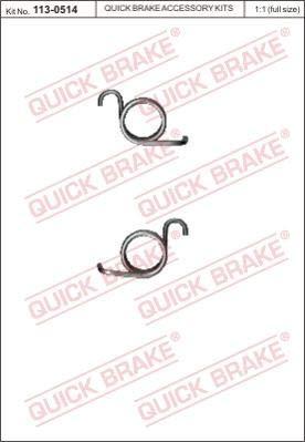 Reparatursatz, Feststellbremshebel (Bremssattel) QUICK BRAKE 113-0514