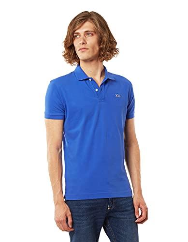 La Martina Herren Eduardo Poloshirt, Blau (Dazzling Bug 07187), X-Large
