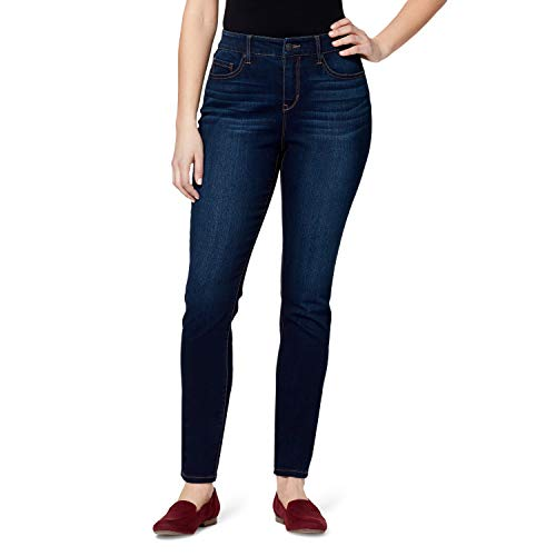 Gloria Vanderbilt Women's Comfort Curvy Skinny Jean, Parker Whisker, 14