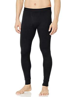Amazon Essentials Men's Lightweight Performance Base Layer Long John Pant, Black, Medium