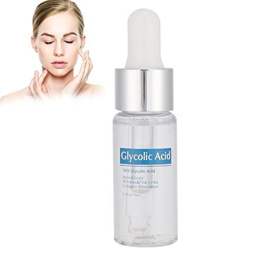 Acido glicolico Siero Rimozione dell acne Sbiancamento della pelle Siero sbiancante liquido Cura della pelle Siero idratante Ridurre i segni dell acne Idratante e idratante 15 ml