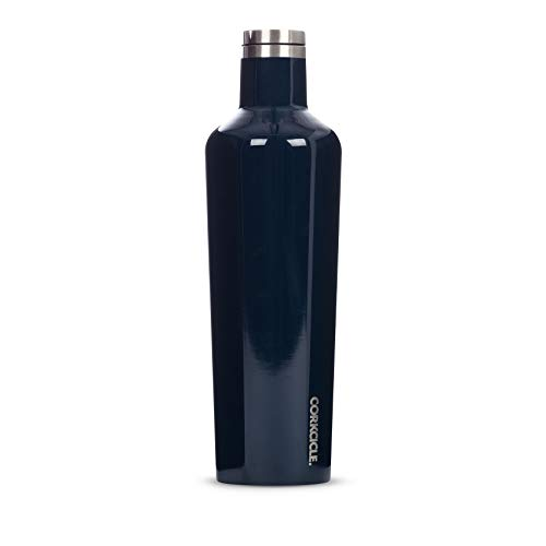Corkcicle Canteen - Water Bottle & Thermos - Triple Insulated Stainless Steel, 25 oz, Gloss Navy