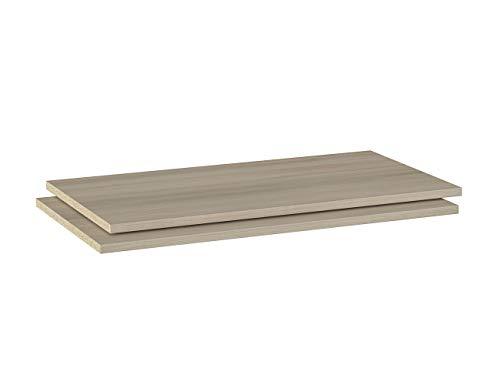 Iconico Home MIK, Confezione 2 ripiani aggiuntivi per armadio, Guardaroba, Camera da letto, Soggiorno, 76,6x51,5xh1,8 cm, Rovere