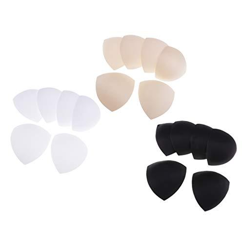 joyMerit 9 Pares de Almohadillas de Sujetador Inteligentes Triangulares Extraíbles para Bikinis, Traje de Baño Deportivo
