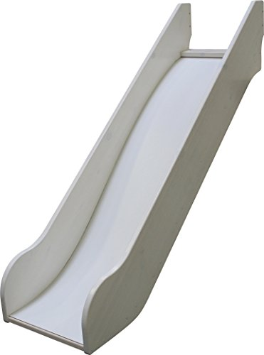 Steens For Kids Rutsche für Kinderbett, Hochbett, inkl. Absturzsicherung, 145 x 112 x 141 cm (B/H/T), Kiefer massiv, weiß lasiert