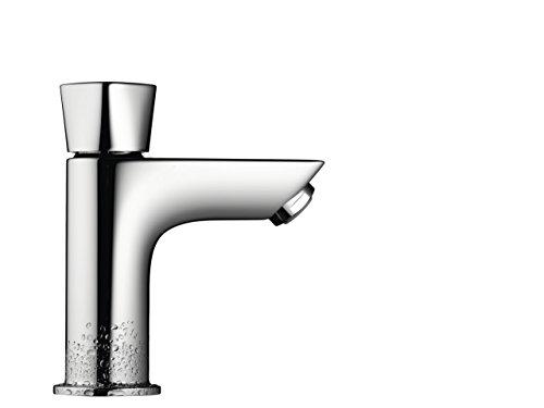 Hansgrohe 71017000–Grifo monomando de lavabo y pequeño lavabo agua fría solo Mycube tirador ni desagüe, cromo