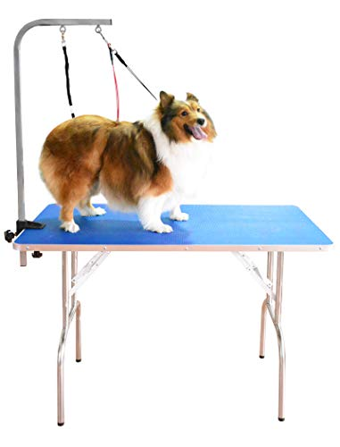 SHELANDY Professional pet Grooming Table with Double leashes and clamp for Large and Medium Dogs (Large (43.523.5 inch))