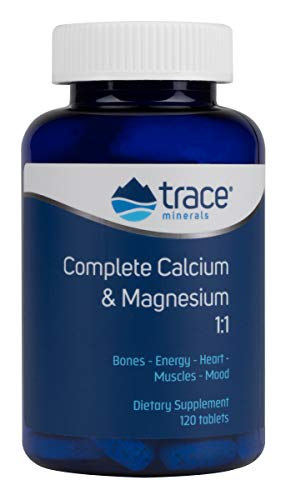 Trace Minerals Complete Cal/Mag 1:1, Tablets, 120-Count
