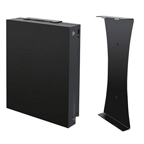 LeSB Xbox One X supporto verticale da parete, costruito in metallo robusto, verniciatura di alta qualità, design semplice, facile e sicuro montaggio, non richiede assemblaggio