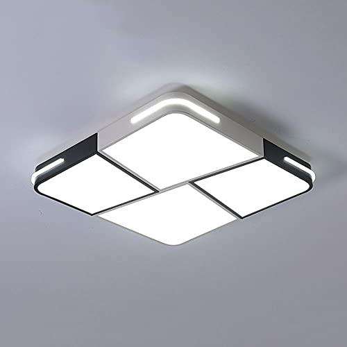 MODEBHD Lámpara De Techo Cuadrada Regulable De 20 Pulgadas, Lámpara De Techo LED De Montaje Empotrado Ultradelgada, con Brillo Y Temperatura De Color Ajustables, 3000-6000k,...