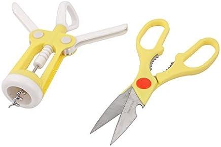 eDealMax da cucina in plastica Maniglia in Acciaio INOX apribottiglie + Scissor Set