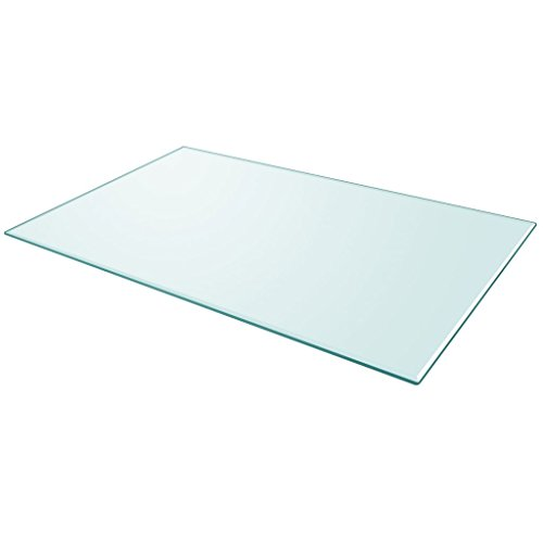 Festnight Tablero de Mesa de Cristal Templado Cuadrado - Color de Transparente...