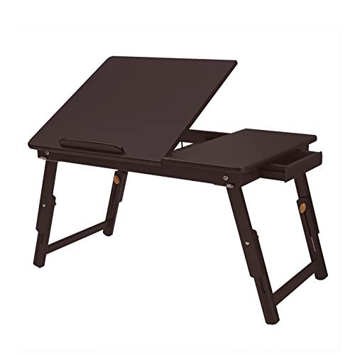 a lap desk is a good solution for working at home in a small space