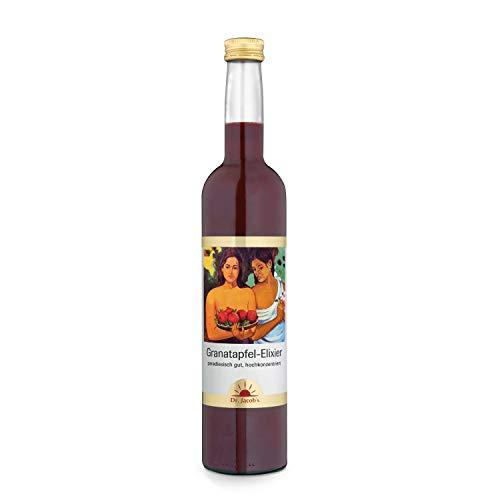 Dr. Jacob's Granatapfel-Elixier 500 ml I hochkonzentriert in Polyphenolen, 80 % weniger Zucker I unverfälscht fruchtig-herber Granatapfel-Geschmack I 25 Portionen