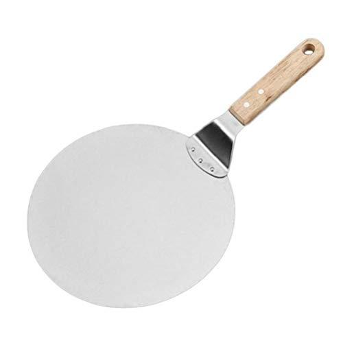 ROUND PEEL DESIGN - Il design rotondo rende la buccia di pizza in metallo elegante e potrebbe essere in grado di andare d'accordo con gli altri utensili da cucina nella vostra cucina. Materiale di alta qualità - Realizzata in resistente acciaio inox ...
