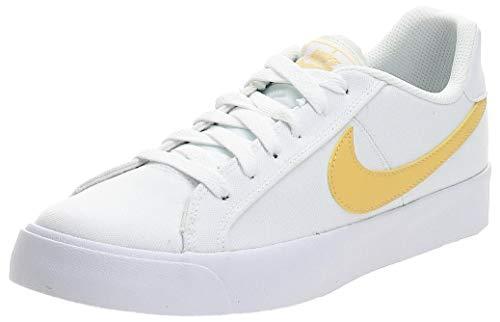 Nike Court Royale Ac Canvas Moda Zapatilla De Deporte Cd5405-102, Blanco (Blanco/Topacio Oro), 37 EU