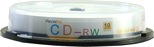 XtremPro CD-RW 12X 700MB 80min Recordable Cd 10 Pack Blank Discs in Spindle - 11041