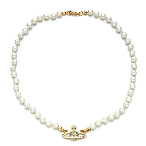 Saturn pearl necklace artificial pe…