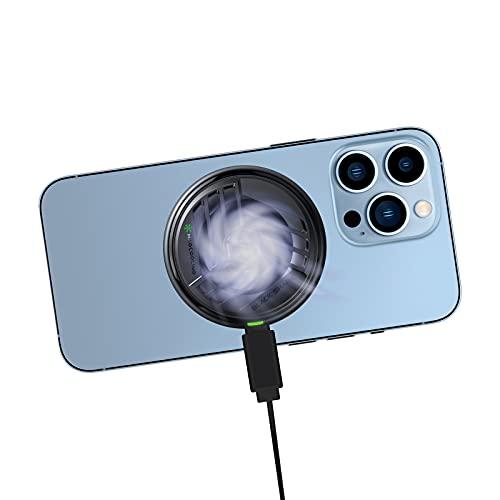 Phone Cooler, Black Shark Magnetischer Kühler für iPhone 13/12, Halbleiter-Kühlkörper für Telefon Gaming, Handy-Kühler geeignet für Android Smartphone mit magnetischem Aufkleber