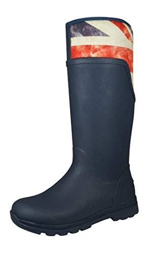 Muck Boots Damen Cambridge (Massiv) Gummistiefel - Marineblau/Gb, 38 EU