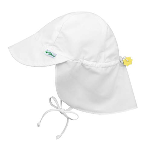 Product Image of the i play. Baby Flap Sun Protection Swim Hat, White, 9-18 Months