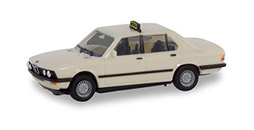 herpa 094849 BMW 528i Taxi Auto/LKW in Miniatur zum Basteln Sammeln und als Geschenk, Mehrfarbig