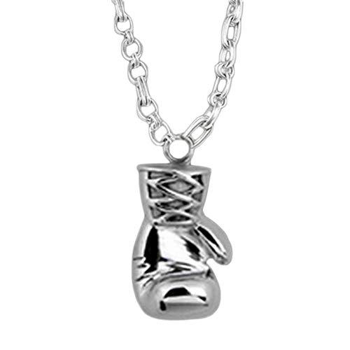 Anhänger Halskette Vintage Gold/Silber Mini Boxhandschuh Halskette Personalisierte Match Schöne Schmuck Anhänger Halskette Silber